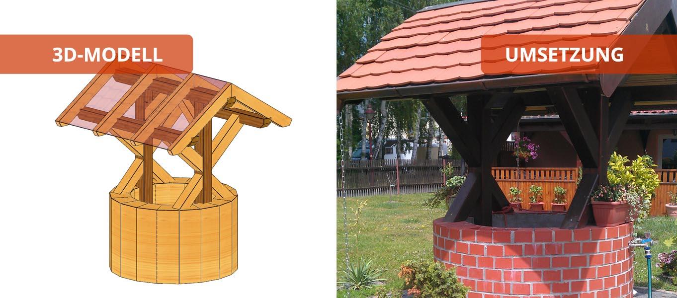 brunnendach holzbaus tze individuell und zum selber aufbauen. Black Bedroom Furniture Sets. Home Design Ideas