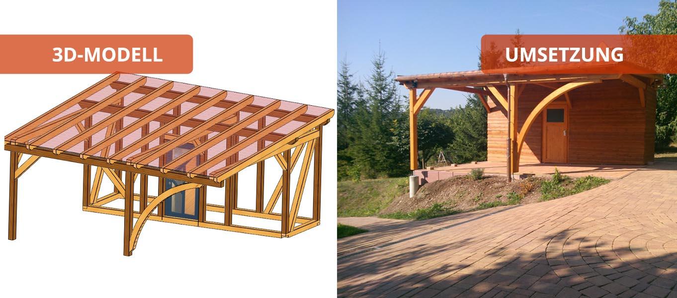 carport4 holzbaus tze individuell und zum selber aufbauen. Black Bedroom Furniture Sets. Home Design Ideas
