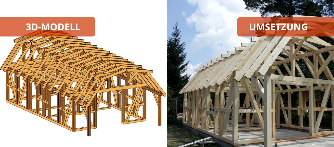 fachwerkhaus - holzbausätze individuell und zum selber aufbauen