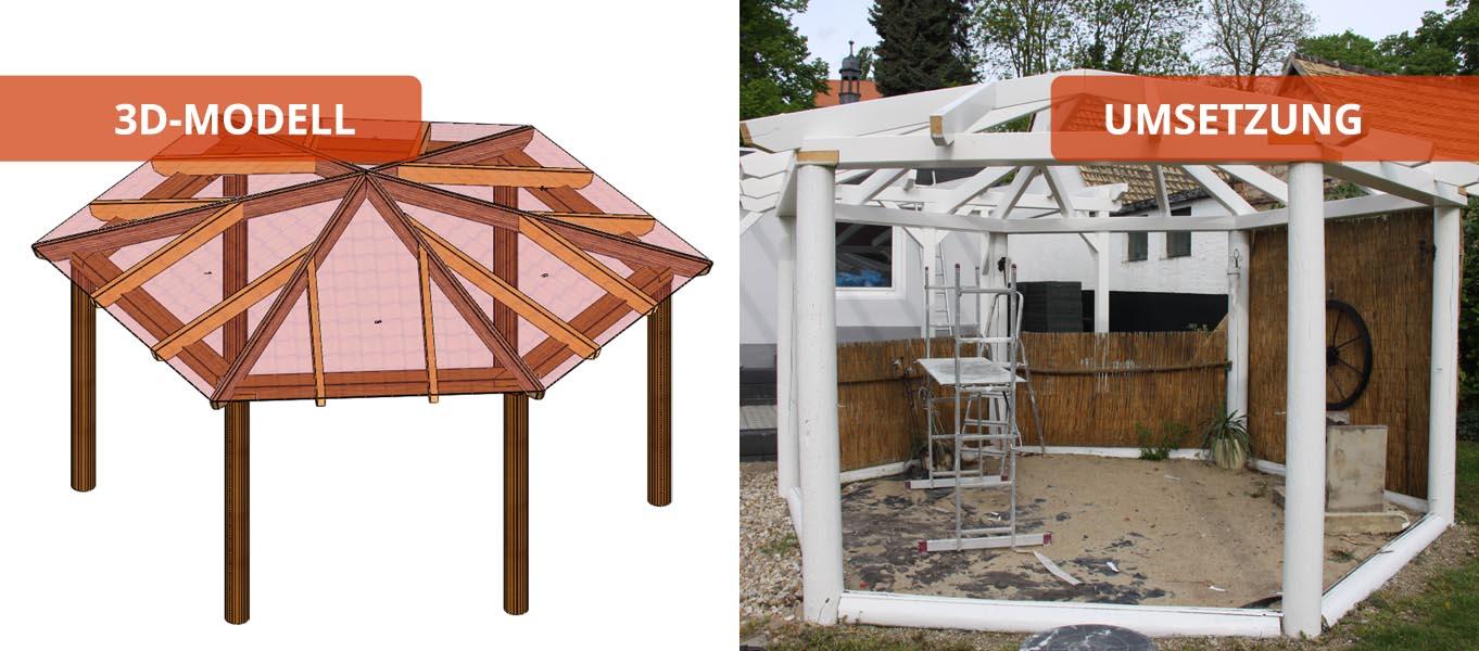 pavillon holzbaus tze individuell und zum selber aufbauen. Black Bedroom Furniture Sets. Home Design Ideas