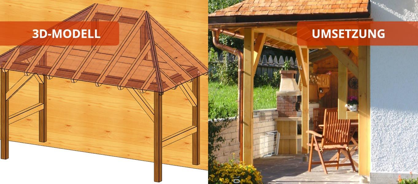 terrassendach holzbaus tze individuell und zum selber aufbauen. Black Bedroom Furniture Sets. Home Design Ideas